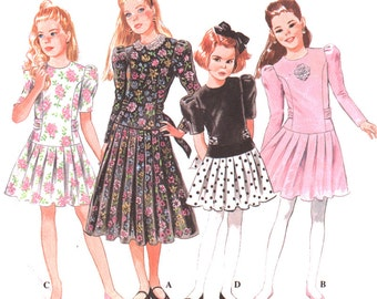Simplicity Sewing Pattern 8751 Girl's Dress in two lengths  Size:  AA  7-8-10  Used