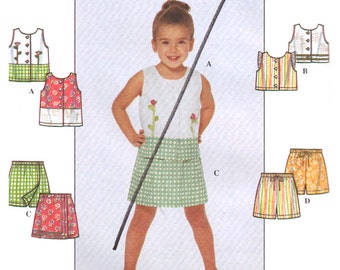 Simplicity Sewing Pattern 8723 Girl's Top, Shorts  Size:  AA  3-4-5-6  Uncut