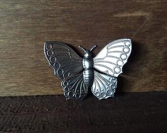 3d metal butterfly