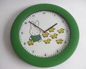 Vintage Miffy  clock timepiece Dick Bruna