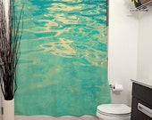 Summer Waters Printed Shower Curtain. Bathroom Decor, Home Decor, Aqua, Photography, Summer, Pool, Waters, Waves, Aquatic, Tropical, Teal