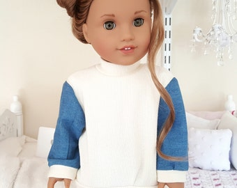 18 inch doll sweater