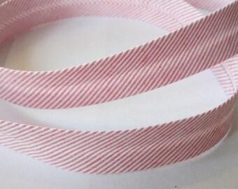 Cotton bias tape 40 / 20 mm Ministripes - Red