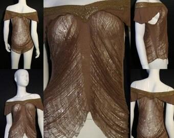 Hidden Mademoiselle Shred Art Design Top