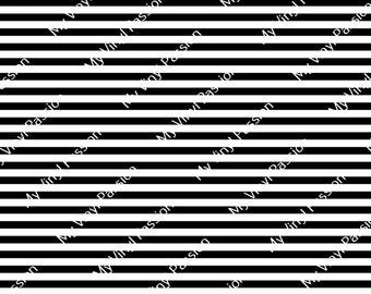 Custom Printed Vinyl - Stripe Print 005 - Black & White