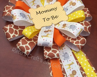 Baby Shower Pin -  Mommy To Be - Jungle, Safari, Zoo
