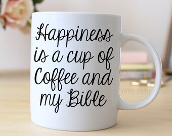 Bible Coffee Mug - Christian Coffee Mug for Her