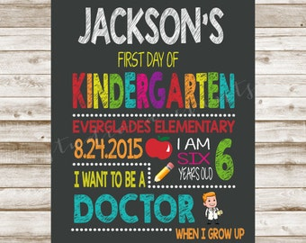 First or Last day of school sign-chalkboard-back to school-digital file-any grade-DIGITAL FILE-PRINTABLE-any profession-custom