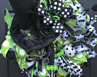 Halloween Wreath - Halloween Door Wreath - Halloween Witch Wreath - Halloween Mesh Wreath - Halloween Decor - Deco Mesh Wreath - Witch