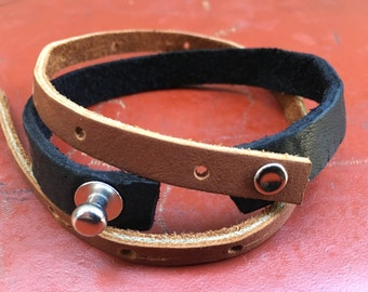 Multi-use Leather Choker/Bracelet