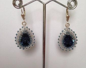 Earrings with Swarovski crystals-Swarovski Crystal Earrings with