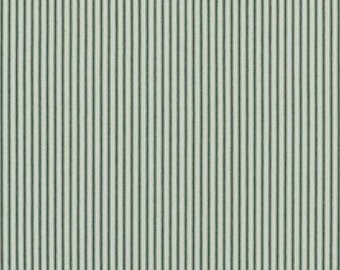 Navy Woven Ticking Stripe   Upholstery Fabric for Slipcovers, Cushions and Pillows Price Per Yard