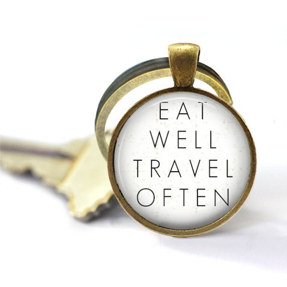 Travel Womens, Eat Well Travel Often, Wander, Encouragement, Travel Accessories, Eat Well Keychain, Travel Often Keyring, Explore Key Chain