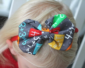 back to school headband - first day of school headband - satin lined headband - girls headband - teacher headband