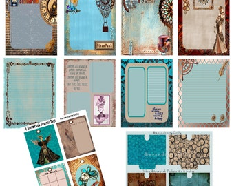 Urban Steampunk Papers- tags and pockets. DOWNLOAD