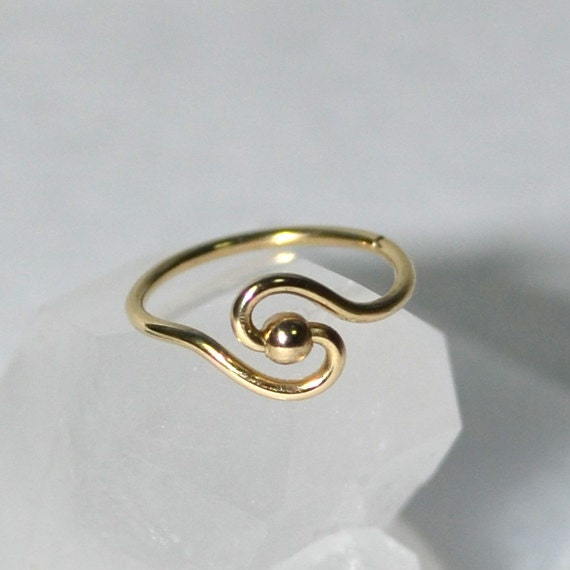 Small Nose Ring - Gold Nose Stud - Nose Hoop - Cartilage Earring - Tragus Earring - Daith Ring - Helix Hoop - Nose Piercing 20g