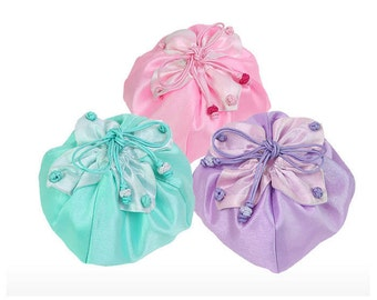 Korea Traditional 6 Colors Lotus Flower Shape Silk Lucky Pocket Pouch S-B