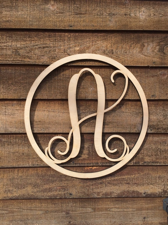 monogram wooden letters items similar to wooden monogram wood letters 23687