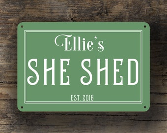 SHE SHED SIGN Classic, Customizable, Vintage style She Shed Sign, Customizable Signs, She Shed Signs, Custom She Shed sign, She Shed Decor