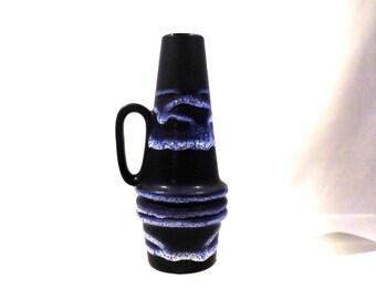 Vintage Vase Seventies Fat Lava Glaze Scheurich West German Pottery