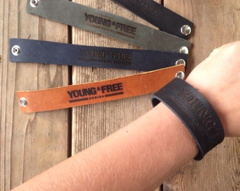 Leather Young & Free Bracelet