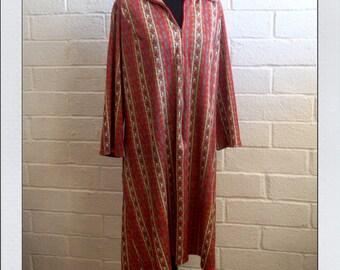 Vintage Floral Kaftan Zip Front Robe