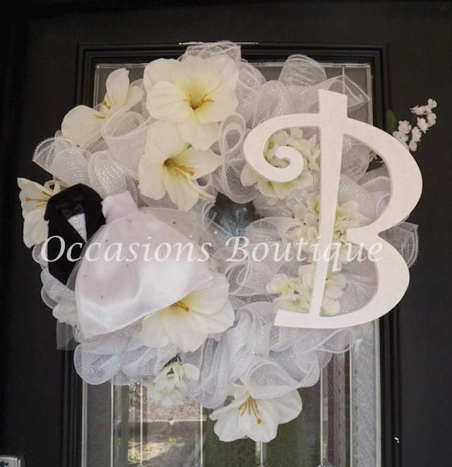 Wedding Door Decorations Ideas: Wedding Wreath Bridal Shower Decoration Door Hanger Wedding