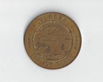 1959 Alaska The 49th State Medal-me1817020