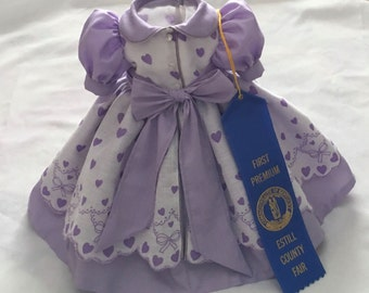 18inch doll dress- lavender doll dress - fits American Girl doll