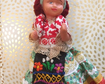 1960's Lil' Fancy Hat Holland Baby Doll