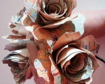 Paper, paper Roses Bouquet bouquet map