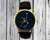 Virgo Constellation Watch | Zodiac Watch | Ladies Watch | Mens Watch | Gift Idea | Minimalist | Geometric | Line Drawing | Astronomy