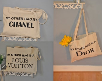 Tote Bag Cotton Shopping Bag My Other bag is.. 3 designs  to choose