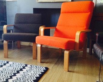 A Danish armchair by Magnus Olesen in manner of Alvar Aalto