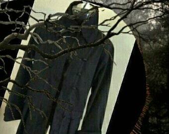 SLEEPY HOLLOW Style Colonial Frock Coat- Ichabod Crane Character Re-Enactment -  Black - S - M - L