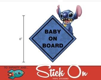 Lilo & Stitch Baby on Board Sticker