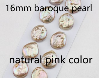 16-17mmX20-11mm large keshi pearl pairs,natural pink coin pearl bead wholesale,golden color baroque pearl pairs,coin pearl earring material