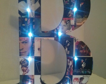 Large Letter with Lights - DAVID BOWIE - unique gift!