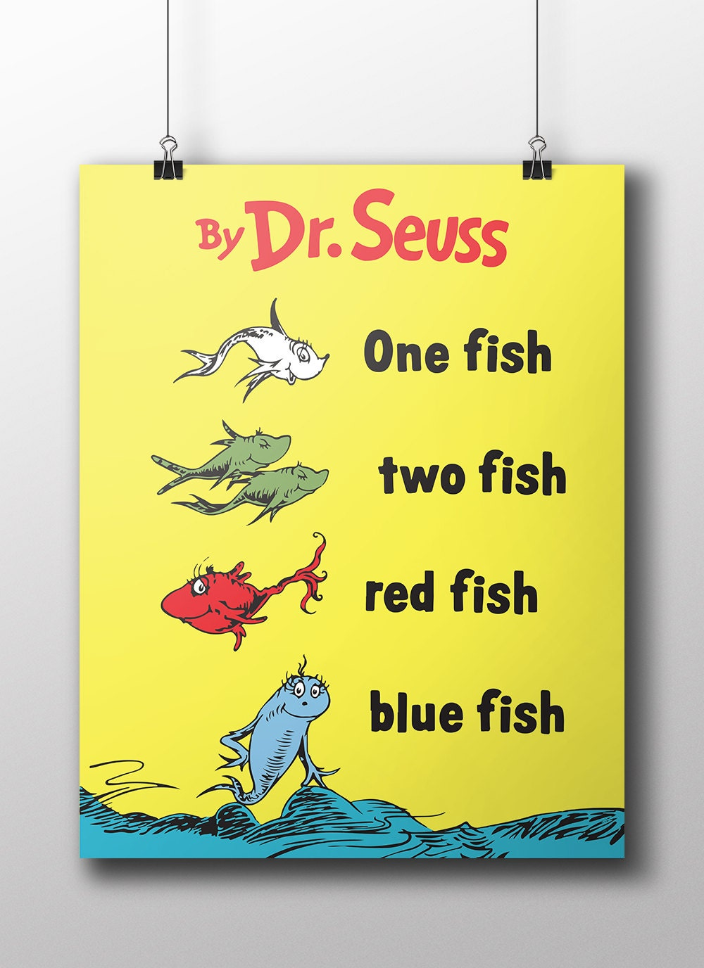 Dr seus one fish two fish red fish blue fish book cover for One fish two fish book