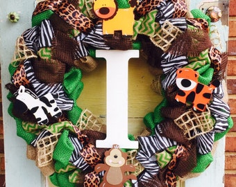 Safari Baby Hospital Door Wreath
