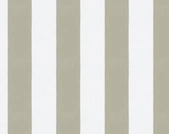 Taupe Stripe Fabric - By The Yard - Girl / Boy / Gender Neutral