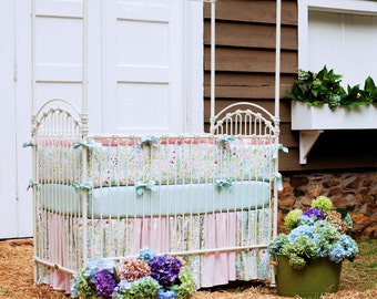 Girl Baby Crib Bedding:  Love Birds 4-Piece Crib Bedding Set by Carousel Designs