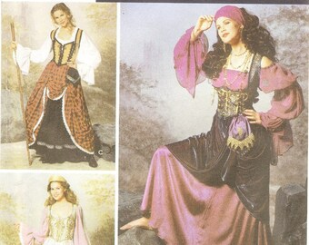 Simplicity 9966 Misses' Gypsy Costume Pattern, 14-20