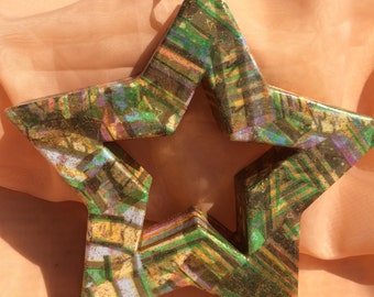 Decoupage Star Wall Hanging