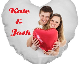 """Personalized Custom Valentine Heart Pillow 15"""" x 16"""" - Valentine's Day-Memorial-Love Gift"""