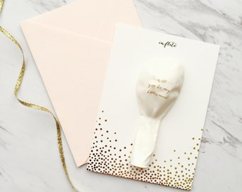 Will You Be My Bridesmaid? Balloon Card