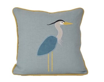 Blue Heron Pillow Cover