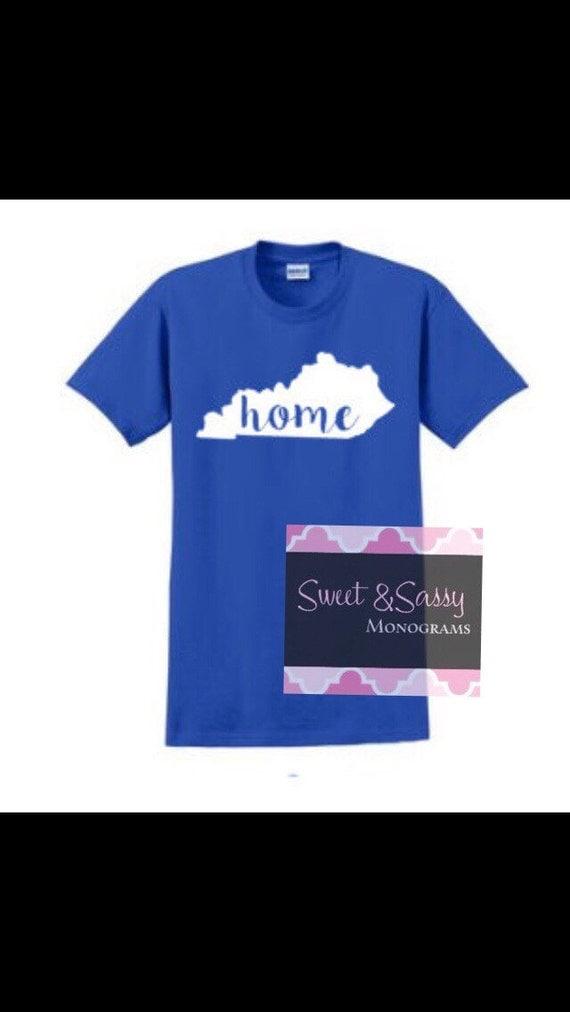 State of kentucky home shirt university of kentucky for Custom t shirts lexington ky
