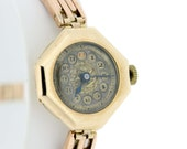 14K Gold Wrist Watch Ladies 15 Jewel