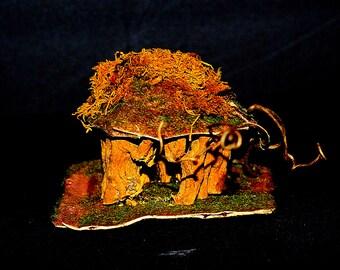 small handmade OOAK FAIRY HOUSE elf